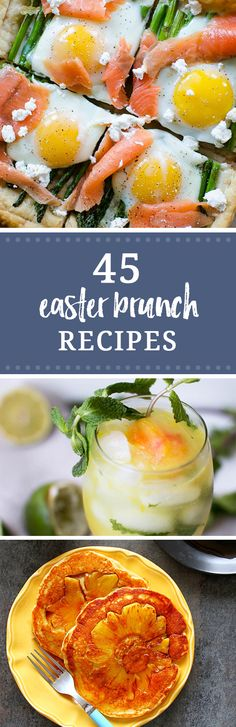 Planning your menu for Easter? These 45 Easter Brunch recipes will give you all the ideas you need for the perfect Easter menu. Here are the best drink recipes, savory and sweet recipes from around the web.