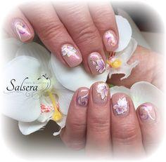 Nails, Nägel, Nageldesign, Salsera Nails & Lashes, Frankfurt am Main, Nude, Glitter, Blumen, Flowers