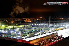 Barabinsk station at night  станция Барабинск