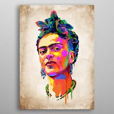 Frida Kahlo detailed, premium quality, magnet mounted prints on metal designed by talented artists. Frida Kahlo Tattoos, Good Company, Trees To Plant, Cyber, Poster Prints, Clothes, Art, Outfits, Art Background
