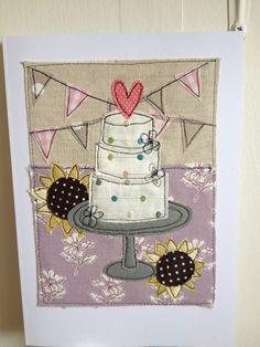 #ZoeWrightTextiles #wedding #weddingcake #sunflowers #bunting