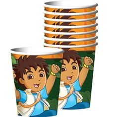Amscan Festive Diegos Biggest Rescue Birthday Party Paper Cups 8 Piece 9 oz Multi * Read more reviews of the product by visiting the link on the image.