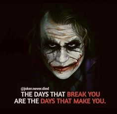 Joker may be a villain in the Batman series but his character is designed in such a way that each and every word from him has something to learn. So here are some joker quotes for you. Heath Ledger Joker Quotes, Best Joker Quotes, Joker Heath, Badass Quotes, Joker Qoutes, Joker Batman, Joker Art, Fotos Do Joker, Joker Pics