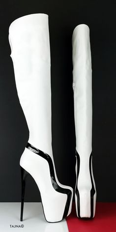 Thin High Heel Platform Thigh High Boots (Boots can be producedwith thicker heels if requested at checkout - in notes part ) Big sizes are also available. Sizes from eu33 to eu 45 (eu33 is 21 cm feet lenght, eu45 is30 cm feet lenght) You can inform us with your leg ( calf and ankle circumferences ) , we can make Stiletto Boots, High Heel Boots, Heeled Boots, Bootie Boots, Cute Boots, Sexy Boots, White Thigh High Boots, High Platform Shoes, Big Sizes