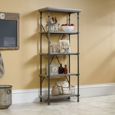 Sauder Canal Street Five Shelf Bookcase | OfficeFurniture.com