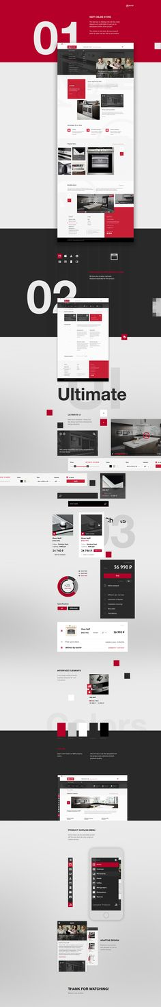 NEFF Online store The task was to redesign the old site, make elegant and comfortable UI and set an atmosphere of the entire project.