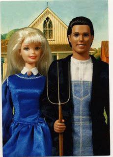 Barbie and Ken- Grant Wood
