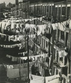 NYC, Lower East Side, tenements & laundry