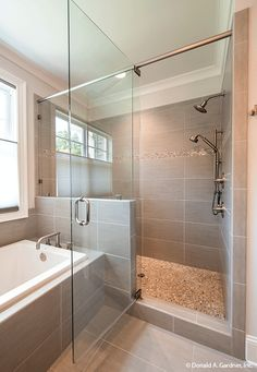 Walk-in shower in The Hartwell #1221.