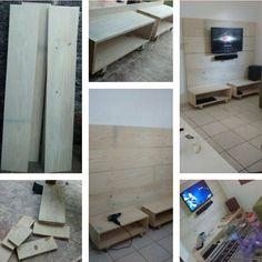 Painel tv DIY                                                                                                                                                                                 Mais