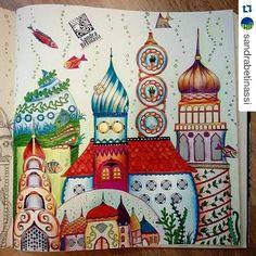 @sandrabetinassi Sempre arrasa! ・#lostocean  #oceanoperdido #livrosdecolorir #jardimsecreto #desenhoscolorir #johannabasfort #lapisdecor