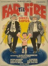 Far til fire og Onkel Sofus (1957) Onkel Sofus kommer hjem fra Amerika.