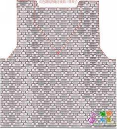 Boy Crochet Patterns, Crochet Cardigan Pattern, Crochet Jacket, Crochet Designs, Crochet Diagram, Crochet Motif, Crochet Stitches, Crochet Summer Tops, Crochet For Boys