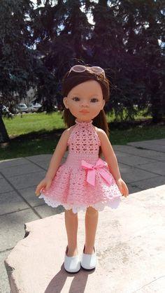 Crochet Doll Dress, Crochet Barbie Clothes, Crochet Doll Pattern, Crochet For Kids, Crochet Baby, Knit Crochet, American Girl Crochet, Journey Girls, Barbie Patterns