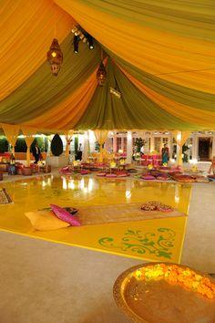Citrus | Green | Yellow | Draping | Indian Wedding