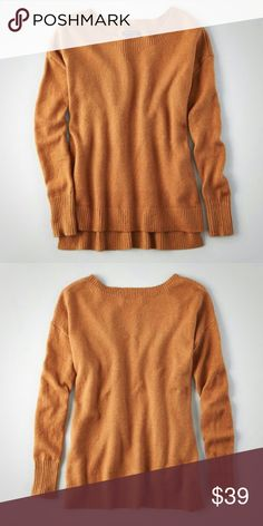 """""""Sincere Sentiments""""☕Caramal Hi-low Sweater For a festive evening, complete with a crackling fireplace, joyful tunes, and hot cups of spiced apple cider, you've prepared yourself in this chic and cozy sweater! Crafted from the most unbelievably soft knit, in a sweet caramel hue, that simply radiates with warm, welcoming style - While a hi-low hem, charming side slits, and a crew neckline, have you raising your cup to this prim pullover - """"Cheers!"""" to a look that offers so much charm and…"""