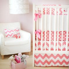 Zig Zag Baby in Hot Pink Crib Bedding Set ... - Jack and Jill Boutique