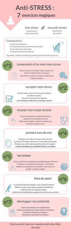 Infographie Anti-stress