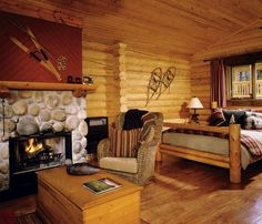 Rocky Mountain Accommodation in Luxury Log Cabins | Cathedral Mountain Lodge