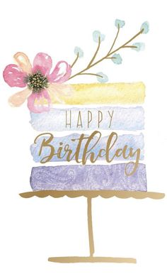 Happy Birthday Painting, Watercolor Birthday Cards, Happy Birthday Art, Birthday Card Drawing, Happy Birthday Wallpaper, Happy Birthday Pictures, Happy Birthday Drawings, Happy Birthday Beautiful, Watercolor Cards