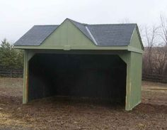 Run In Shed '12 by 16 ' with Gable - Building Plan