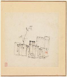Chen Hongshou  (Chinese, 1599–1652) Period: Ming dynasty (1368–1644) Date: one leaf dated 1619 Culture: China Medium: Album of twelve painti...
