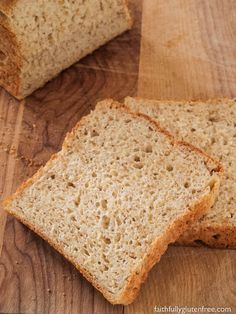 This Wonderful Gluten Free Sandwich Bread really does earn it's name. The br… This Wonderful Gluten Free Sandwich Bread really Gluten Free Rolls, Gluten Free Treats, Gluten Free Desserts, Dairy Free Recipes, Easy Recipes, Soup Recipes, Cookie Recipes, Diet Recipes, Gluten Free Sandwich Bread Recipe