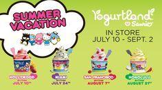 Yogurtland Loves Sanrio promotion summer 2012