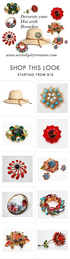 """""""Decorate your hat with Brooches"""" by cindydcooley ❤ liked on Polyvore featuring Avon and vintage"""