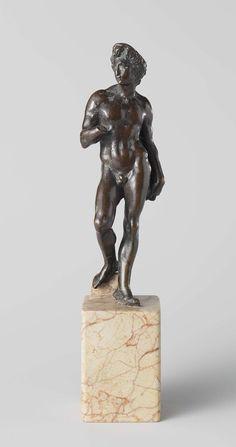 David, Jacopo del Duca, c. 1540.  (After Michelangelo). Bronze, h 27 × w 5.8 × d 5.8 cm. -Rijksmuseum Amsterdam-