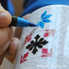 Mothers day gift. COLORING MUG SET. 2 Barcelona mugs por Biterswit