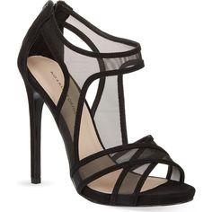 KG KURT GEIGER Haze heeled sandals (12,220 INR) ❤ liked on Polyvore featuring shoes, sandals, heels, black, zipper shoes, black high heel sandals, black sandals, black shoes and heeled sandals