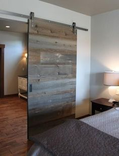 Knotty Alder Double Sliding Barn Door | Design, Sliding doors and ...