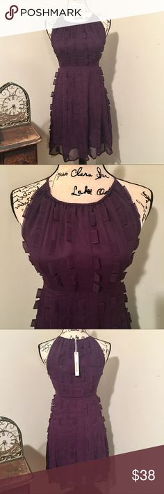 Minuet Purple Dress NWT Size S with fabric accents Minuet Purple Dress NWT Size S with fabric accents covering the dress for a fun flirty detail. Minuet Dresses