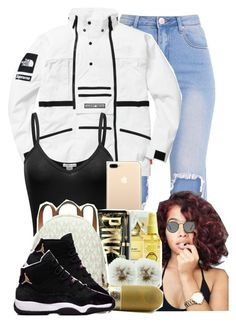 """""""Untitled#234"""" by adore-monie ❤ liked on Polyvore featuring interior, interiors, interior design, home, home decor, interior decorating, The North Face and Ray-Ban"""