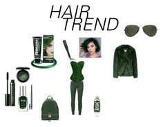 """""""green hair"""" by effyswanhaze ❤ liked on Polyvore featuring beauty, PaintGlow, MICHAEL Michael Kors, Dsquared2, MAC Cosmetics, Clinique, Barry M, Estée Lauder, Ray-Ban and Golden Goose"""