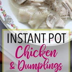 Love chicken and dumplings but don't have a lot of time? These pressure cooker chicken and dumplings are quick, easy, and delicious!