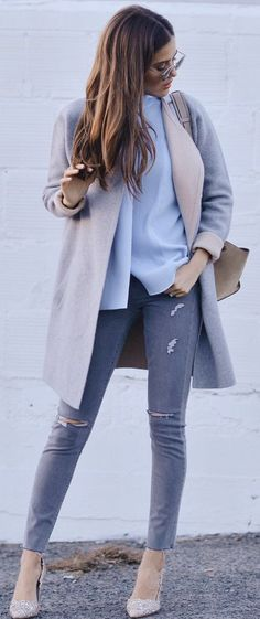 Blank Itinerary Grays And Neutrals Fall Streetstyle Inspo