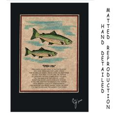 TOTEM FISH  Totem Animal Print on 5x7 Mat Board by JoysoftheSpirit, $7.50