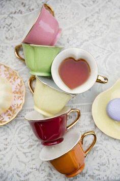 teacups, hearts