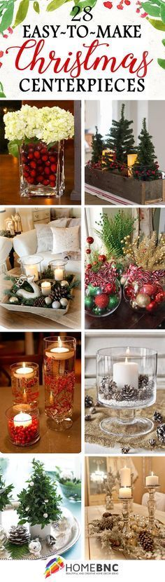 28 fabulous diy christmas centerpieces that anyone can make - Christmas Room Decoration Ideas