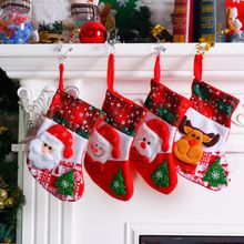 Christmas Santa Socks Cute Ornaments Festival Party Xmas Tree Hanging Decor US
