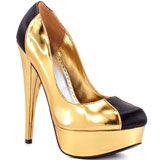 Bebe's Multi-Color Pamelia - Gold Metallic for 124.99 direct from heels.com