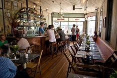 Five Leaves, Greenpoint.  Great food, cool design & atmosphere.  c/o remodelista