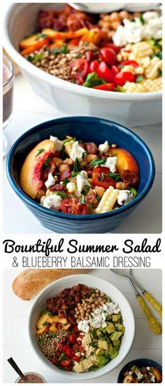 Bountiful Summer Salad & Blueberry Balsamic Dressing