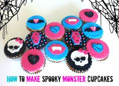 my daughter thinks these look like 'monster high' cupcakes and wants me to make them for halloween ..lol