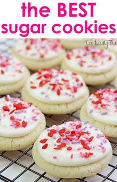 The BEST and easiest sugar cookies! No rolling out and cutting necessary! - I may make some with almond flavoring and some with vanilla