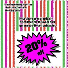 Blow out sale!!! Take advantage of this opportunity for last minute Christmas gifts. Other