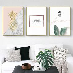 Stylish Simple Abstract Pattern Love Life Poster Wall Art Canvas Painting Home Picture Wall Decoration