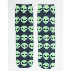 Alien Crew Socks ($12) ❤ liked on Polyvore